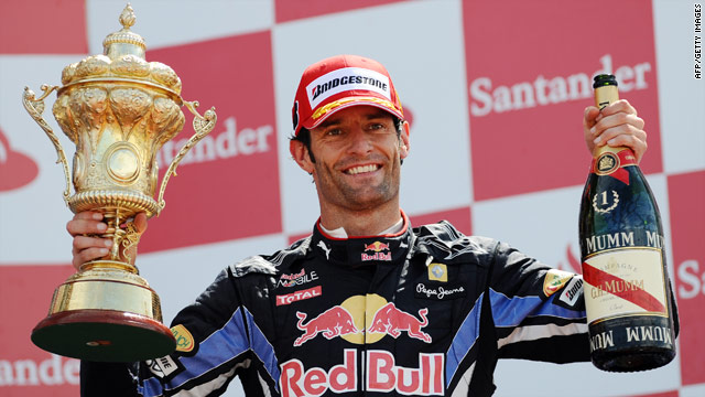 Red Bull's Mark Webber boosted his title chances after winning his first British Grand Prix at Silverstone.