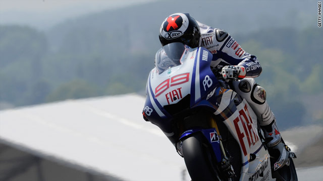 Jorge Lorenzo is bidding to secure his sixth victory of the season with a win in Sunday's German MotoGP.