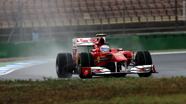 Ferrari's Fernando Alonso looks like the man to beat after recording the fastest lap ahead of this weekend's German GP.
