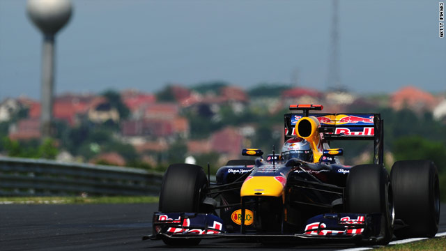 Sebastian Vettel is looking to win his third race of the season in Hungary after recording the fastest lap in practice.