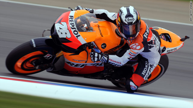 Dani Pedrosa is seeking to bounce back after crashing out in the previous race in the United States.