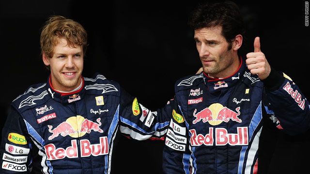 Red Bull's Sebastian Vettel (L) and Mark Webber were fastest in the two practice sessions ahead of the Singapore GP.