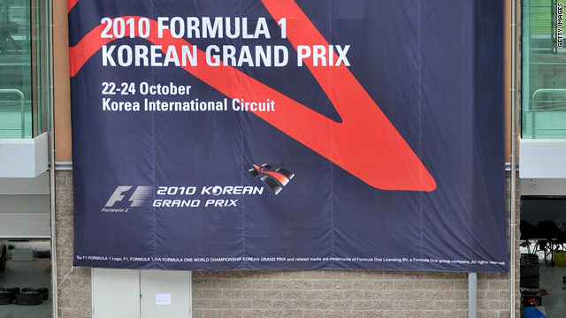 The Korean Grand Prix will be staged for the first time from October 22-24 at the Yeongam circuit.