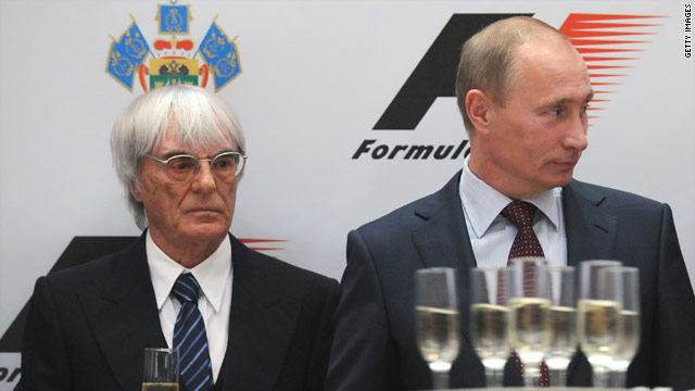 Vladimir Putin, right, and Bernie Ecclestone signed a deal to bring Formula One to Russia on Thursday.
