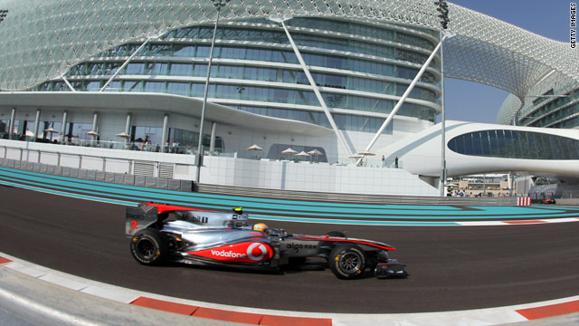 Lewis Hamilton led the way in practice ahead of the Abu Dhabi Grand Prix at the Yas Marina Circuit.