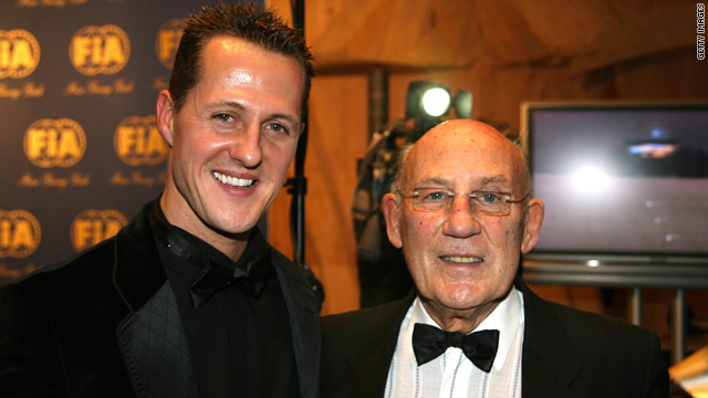 Stirling Moss, pictured right with Michael Schumacher in 2006, has written off the Mercedes driver's chances in 2011.