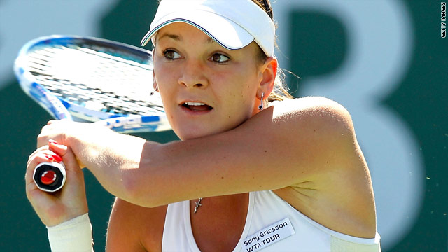 Poland's Agnieszka Radwanska has reached the last four at Indian Wells for the first time.