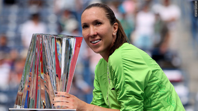 Jankovic was winning her first title of 2010 at Indian Wells.