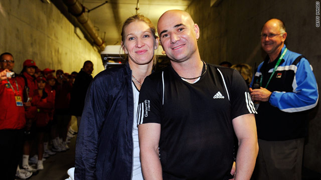 Graf and Agassi content themselves with the occasional charity or exhibition event since their retirements.