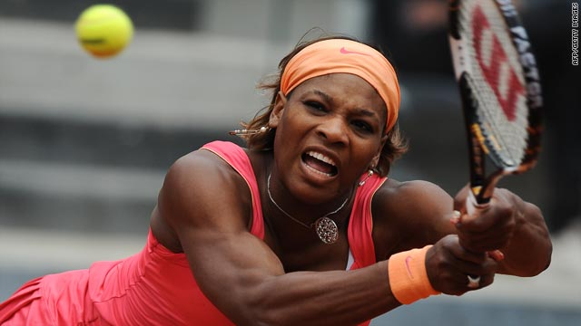 Top seed Serena Williams admitted to being rusty in her first event since suffering a knee problem in late January.