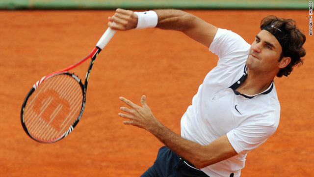 Roger Federer lost his opening service game against Arnaud Clement and needed to save a set-point in the tie-break.