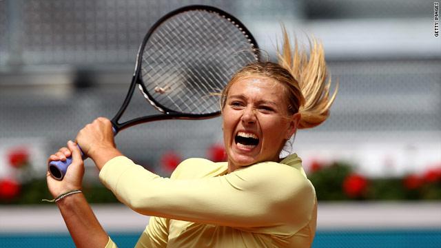 Sharapova showed plenty of effort on her return but came up short in Madrid.