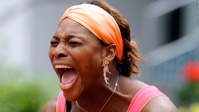 Serena Williams was relieved after winning her marathon second-round tie against Vera Dushevina on Monday.