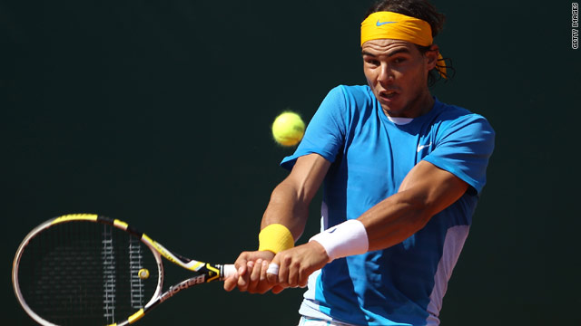 Rafael Nadal reached the quarterfinals of the Madrid Masters for a sixth successive year after beating John Isner.