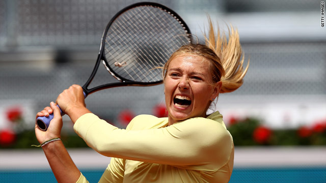 Sharapova scored a morale-boosting title win in Strasbourg ahead of the French Open.
