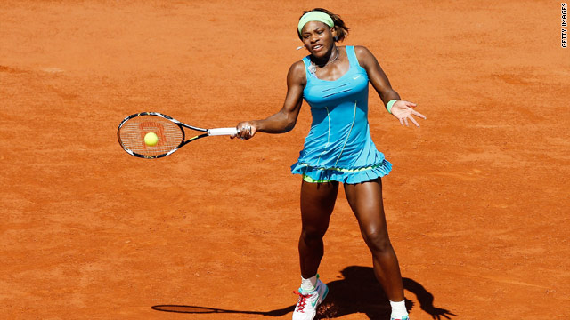 Serena Williams was taken to a first set tie-break before reaching the second round of the French Open.