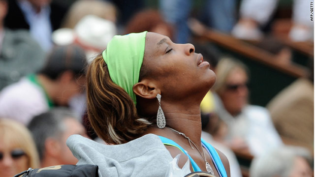 Serena Williams had to fight off the effects of a cold before reaching the fourth round in Paris.