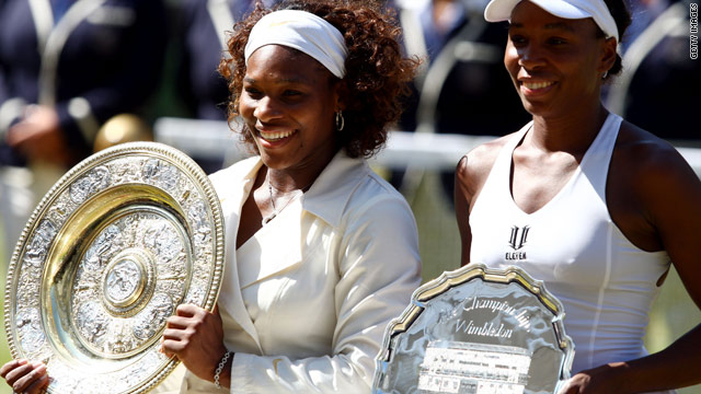 Serena Williams, left,, and her older sister Venus have dominated at Wimbledon in the past decade.