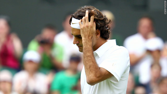 Roger Federer was taken to the brink by unseeded Colombian Alejandro Falla on the first day of Wimbledon.