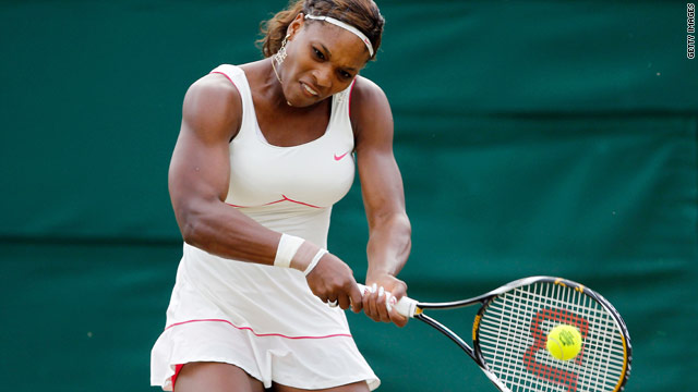 Serena Williams during her second round match with Russia's Anna Chakvetadze.