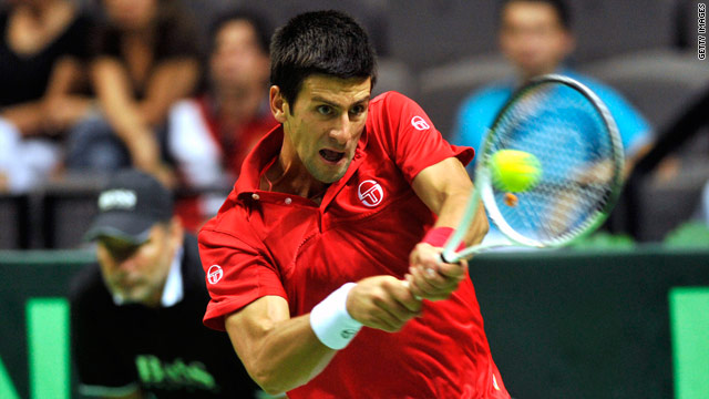 Djokovic secured the winning point in his singles rubber against Marin Cilic in Split.