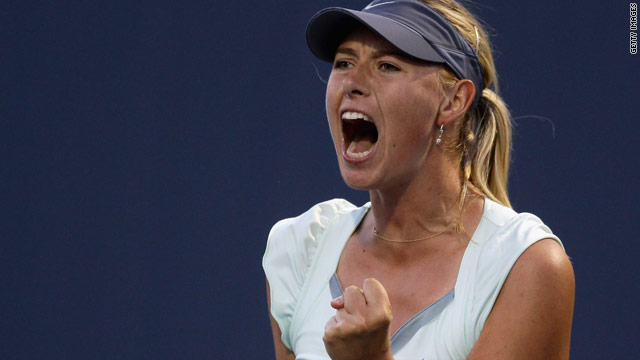Maria Sharapova made a successful return to hard-court action with victory in her opening game at Stanford.
