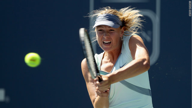 Maria Sharapova is returning to her best form and reached the last eight in California.