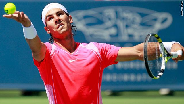 World number one Rafael Nadal beat big-serving American Taylor Dent in Cincinnati.
