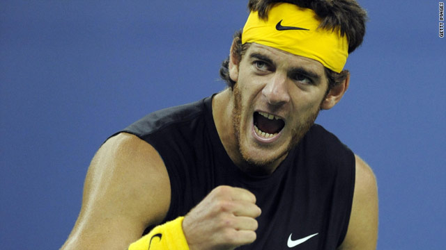 Juan Martin Del Potro has fallen down the world rankings to ninth after reaching a career-high fourth in January.