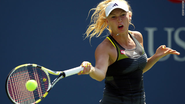Caroline Wozniacki was on court for just 47 minutes as she cruised into round three of the U.S. Open.