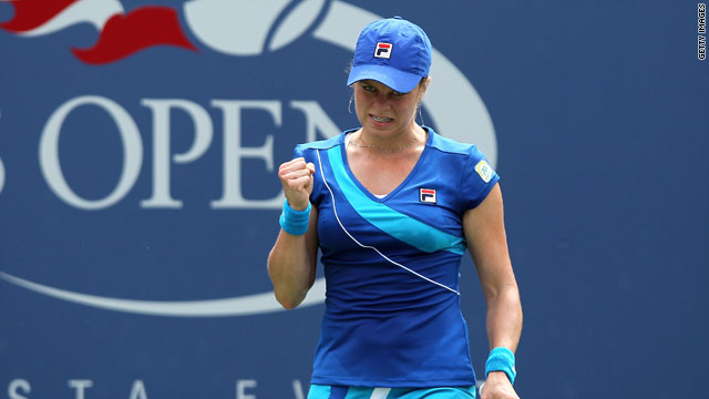 Holder Kim Clijsters took under an hour to cruise into the last eight of the U.S. Open on Sunday.