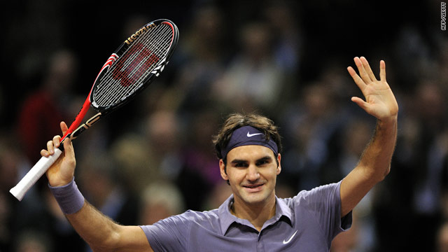 Federer polished off Roddick in just over an hour to reach the final of the Swiss Indoors.