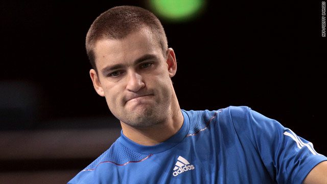 Mikhail Youzhny had a first-round bye in France and pulled out of his opening match while trailing to Ernests Gulbis.
