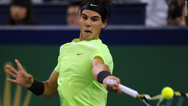 Rafael Nadal will face American Andy Roddick in his first game at the ATP World Tour Finials in London.