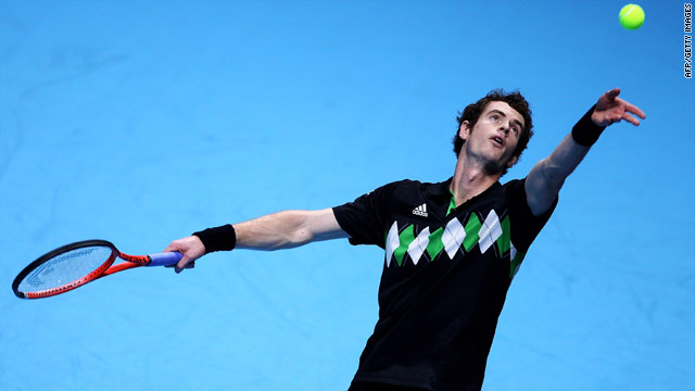 Andy Murray was on the front foot against Robin Soderling in the opening Group B match at the ATP World Tour Finals in London.