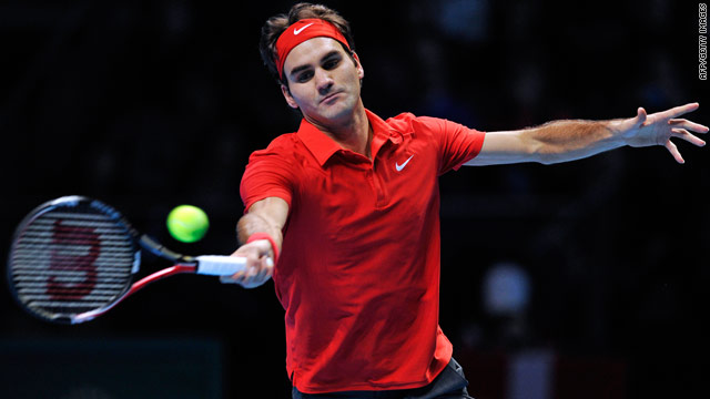 Roger Federer demolished Scotland's Andy Murray in their Group B ATP World Tour Finals match at the O2 Arena in London.