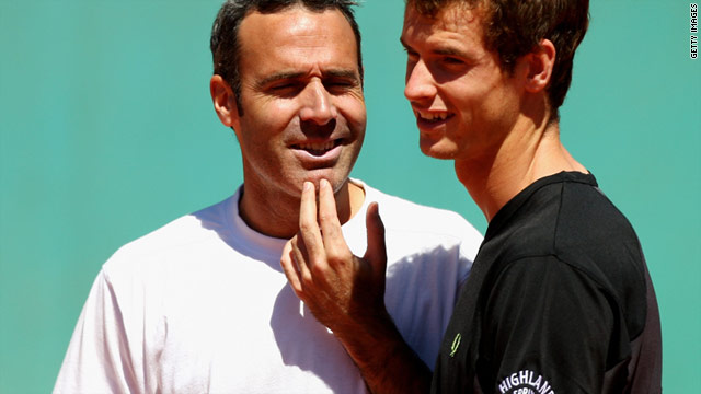 Two-time French Open finalist Alex Corretja, left, will continue coaching British tennis star Andy Murray, right, next year.