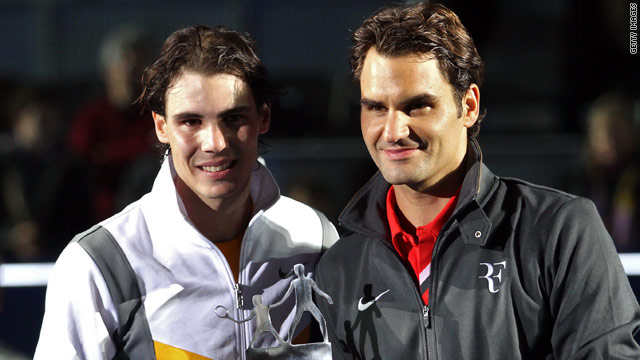 Rafael Nadal (left) and Roger Federer (right) have played each other to raise money for their respective charities.
