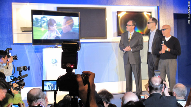 DreamWorks, Technicolor and Samsung announced a partnership Wednesday to bring 3-D TV into homes.