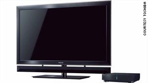 Toshiba says new TV will turn 2-D signal into 3-D.