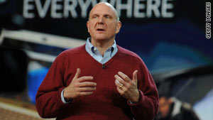 Microsoft CEO Steve Ballmer gave Thursday's keynote address at the Consumer Electronics Show in Las Vegas.