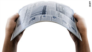 The Skiff Reader has a flexible sheet of steel foil that makes it durable.