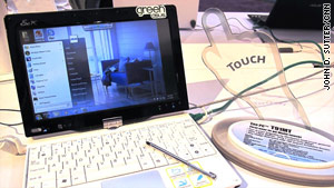 Asus was among several companies offering touch-screen tablet computers at the Consumer Electronics Show.