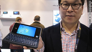 """This touch-screen """"clamshell"""" style device from viliv falls loosely within the tablet computer category."""