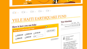 Web users on Wednesday flocked to Yele.org, a Haitian relief organization founded by musician Wyclef Jean.