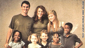 Troy and Tara Livesay live with their large family in Port-au-Prince, Haiti.