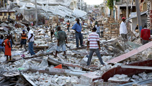 Some aid following the Haiti earthquake has come through social media and text message pledges.