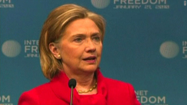 In a major speech Thursday on Internet freedoms, Secretary of State Hillary Clinton condemned Web censorship.