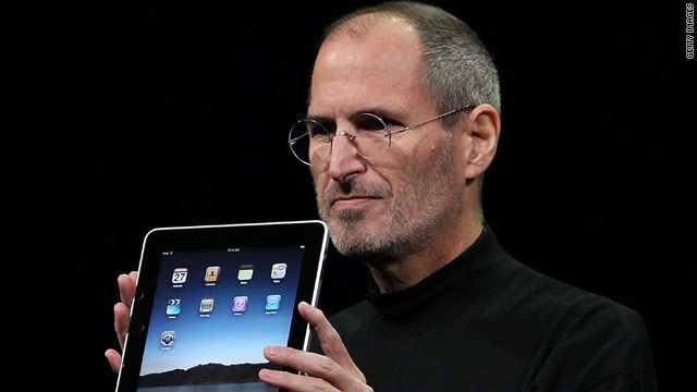 Apple CEO Steve Jobs unveiled the highly anticipated iPad tablet on Wednesday.