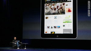 Apple announced a number of apps that will be included in the iPad when it launches in two months.